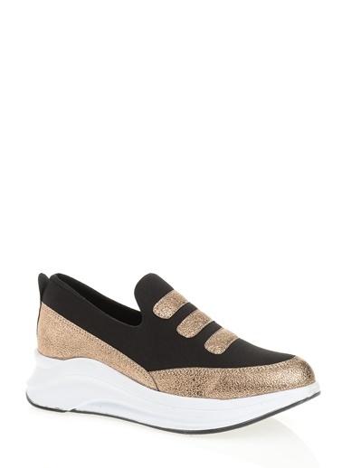 Derigo Dolgu Topuklu Ayakkabı Bakır